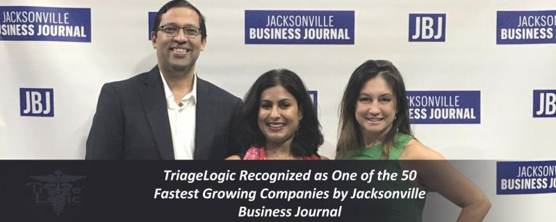 TriageLogic Recognized as One of the 50 Fastest Growing Companies by Jacksonville Business Journal