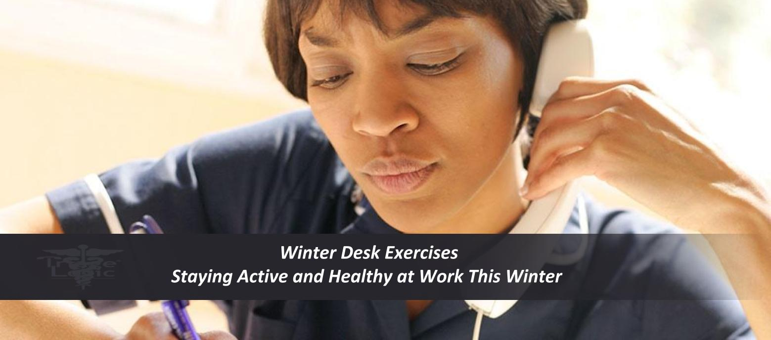 Read more about the article Winter Desk Exercises: Staying Active and Healthy at Work This Winter