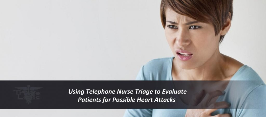 Female patient with a possible heart attack symptom should be evaluated by a telephone triage nurse