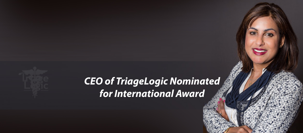 CEO of TriageLogic Nominated for International Award