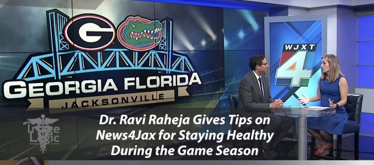 Dr. Ravi Raheja gives Tips on News4Jax for Staying Healthy During Game Season