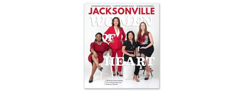 Charu Raheja on the cover of Jacksonville Magazine