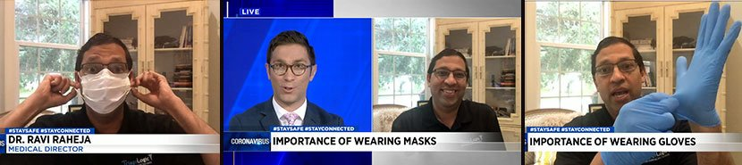 Dr. Ravi Raheja on News4Jax Sharing the Do's and Don'ts of Protective Masks and Gloves During the COVID-19 Pandemic