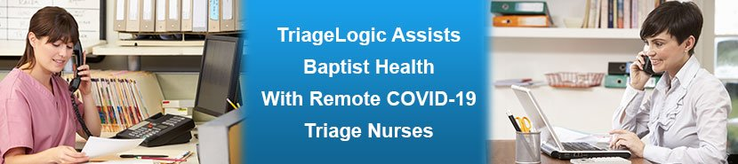 Two triage nurses helping patients with possible COVID-19 symptoms